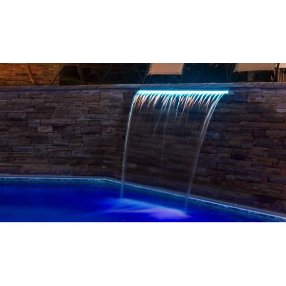 Cascada LED de noche con LED azul