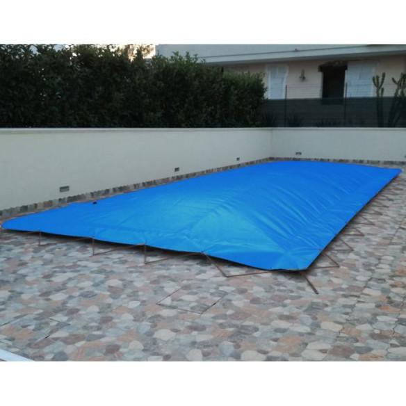 Cobertor invierno hinchable azul