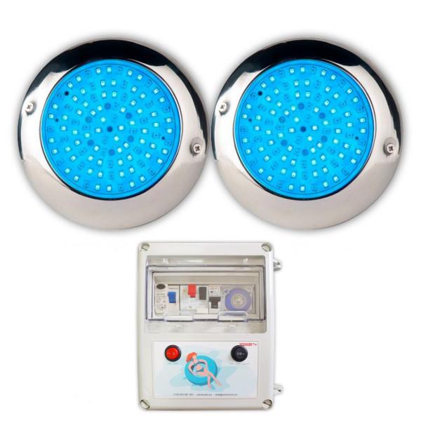 Pack 2 Focos LED de Superficie RGB...