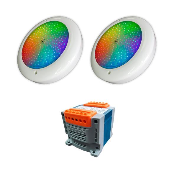 Pack 2 Focos LED RGB 35W 12V AC...